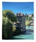 hot summer afternoon in Bern Fleece Blanket