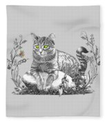 House Cat Fleece Blanket