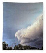 House On The Corner Fleece Blanket by Jeff Iverson