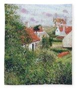 Houses At Knocke, Belgium, 1894 Fleece Blanket