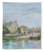 Houses On The Bank Of Ecluse At The Gazonne Fleece Blanket