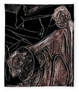 How The Camel Got His Hump Digital And Drawings D10-4 Fleece Blanket