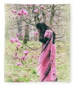 Scent Of Magnolia Fleece Blanket