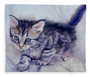 Hunting For A Mouse Fleece Blanket