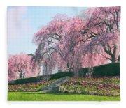 Weeping Spring Cherry  Fleece Blanket