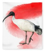 I Is For Ibis Fleece Blanket