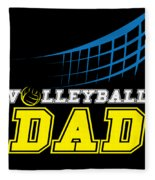 I Love Volleyball Team Player Ball Fleece Blanket