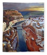 I Saw Three Ships Come Sailing In, On Christmas Day In The Morning. Fleece Blanket
