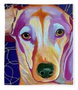 I Should Have Been Jackson Pollock's Dog Fleece Blanket