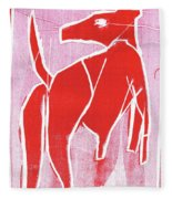 I Was Born In A Mine Red Dog 34 Fleece Blanket
