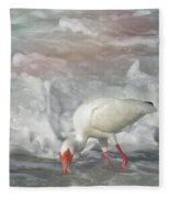 Ibis And A Tinted Sea Fleece Blanket