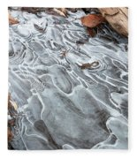 Ice Swirls Fleece Blanket