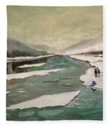 Icey River Fleece Blanket