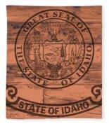 Idaho State Flag Brand Fleece Blanket