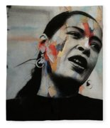 I'll Be Seeing You - Billie Holiday  Fleece Blanket