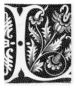 Illuminated Letter L Fleece Blanket
