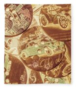 In Fashion Of Classic Cars Fleece Blanket