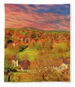 In Our English Towns Fleece Blanket