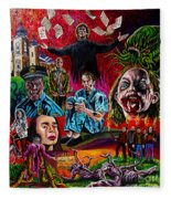 In The Mouth Of Madness Fleece Blanket