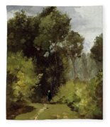 In The Woods, 1864 Fleece Blanket
