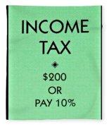 Income Tax Fleece Blanket
