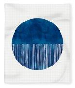 Indigo Moon- Art By Linda Woods Fleece Blanket