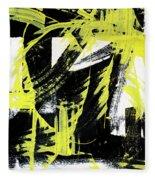 Industrial Abstract Painting II Fleece Blanket