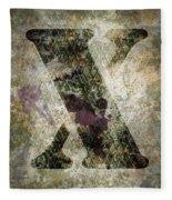 Industrial Letter X Fleece Blanket
