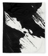 Ink Wave 2- Art By Linda Woods Fleece Blanket