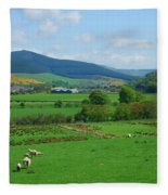 Innerleithen And Tweed Valley Looking East Fleece Blanket