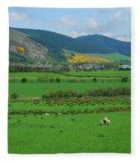 Innerleithen In The Tweed Valley Fleece Blanket