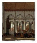 Interior Of The Oude Kerk  Amsterdam  Fleece Blanket