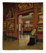 Interior View Of The Metropolitan Museum Of Art When In Fourteenth Street  Fleece Blanket