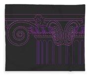 Ionic Capital Diagonal View Cropped 1 Fleece Blanket