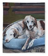 Irish Red And White Setters - Archer Dogs Fleece Blanket