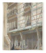 Iron Frame House With Glazed Earthenware  Fleece Blanket