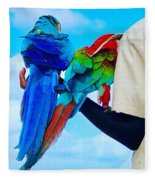 Island Birds  Fleece Blanket