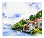Italian Summer Vacation Fleece Blanket