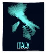 Italy Radiant Map 1 Fleece Blanket