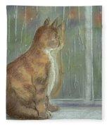 It's Raining Outside Fleece Blanket