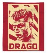 Ivan Drago Retro Propaganda Fleece Blanket
