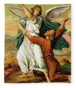 Jacob Wrestiling With The Angel  Fleece Blanket