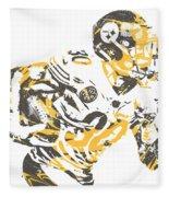 James Connor Pittsburgh Steelers Pixel Art 3 Fleece Blanket