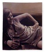 Janis Joplin Fleece Blanket