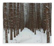 January Forest Fleece Blanket