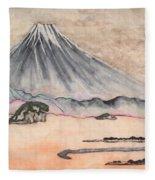 Japan Art And Mount Fuji - Suzuki Kiitsu In Color By Sawako Utsumi Fleece Blanket