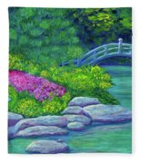 Japanese Garden Fleece Blanket