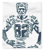Jason Witten Dallas Cowboys Pixel Art 22 Fleece Blanket