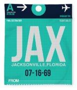 Jax Jacksonville Luggage Tag II Fleece Blanket