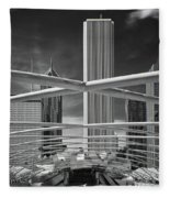 Jay Pritzker Pavilion Infrared Fleece Blanket